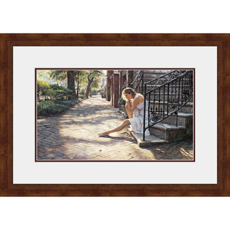 """Hadley House Framed """"One Step at a Time"""" Print by Steve Hanks - Limited Edition, 24x36"""""""