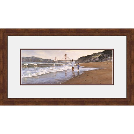 "Hadley House Framed ""Morning at Bakers Beach"" Print by Steve Hanks - Limited Edition, 20x40"""