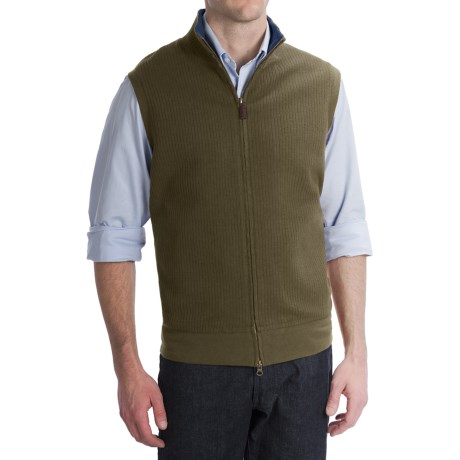 Pendleton French Rib Vest - Zip Front (For Men)