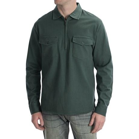 Pendleton Spinnaker Shirt - Cotton, Zip Neck, Long Sleeve (For Men)