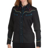 Scully Embroidered Horse Silhouette Shirt - Snap Front, Long Sleeve (For Women)
