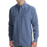 Scully Lifestyle Polynosic Tonal Stripe Shirt - Snap Front, Long Sleeve (For Men)