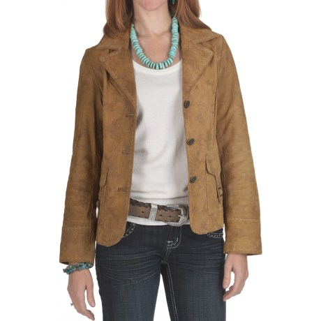 Scully Contrast Stitch Frontier Jacket - Leather (For Women)