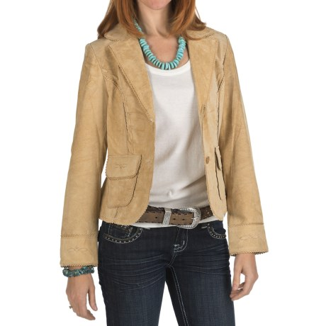 Scully Lace Trim Boar Suede Blazer (For Women)