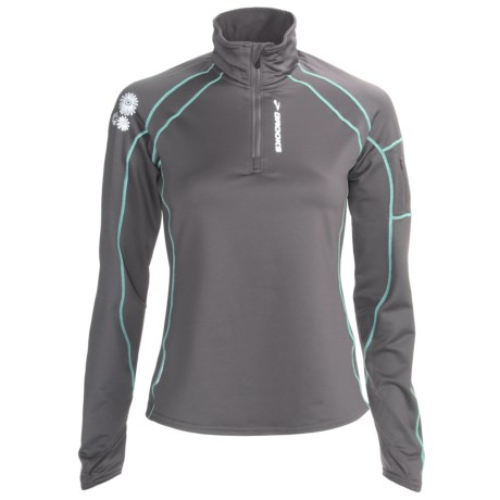 Brooks Infiniti Zip Neck Pullover - Midweight (For Women)