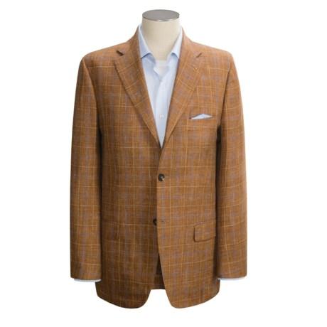 Isaia Windowpane Sport Coat - Wool-Silk (For Men)