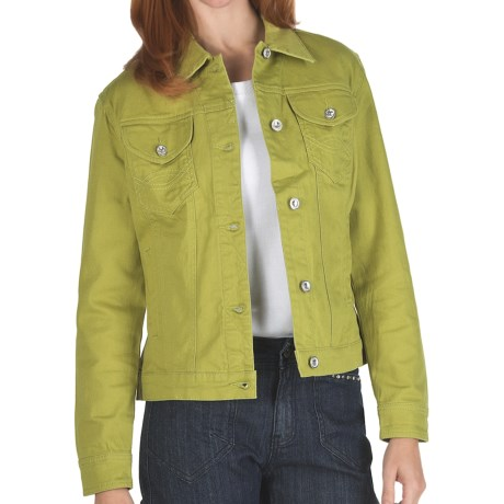 Ethyl Twill Jean Jacket - Stretch Cotton (For Women)