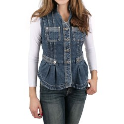 Ethyl Long Denim Vest (For Women)