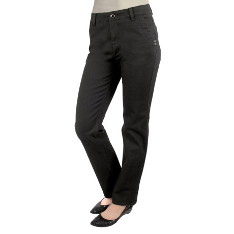 Euro 5- Pocket Twill Pants - Curvier Fit, Straight Leg (For Women)
