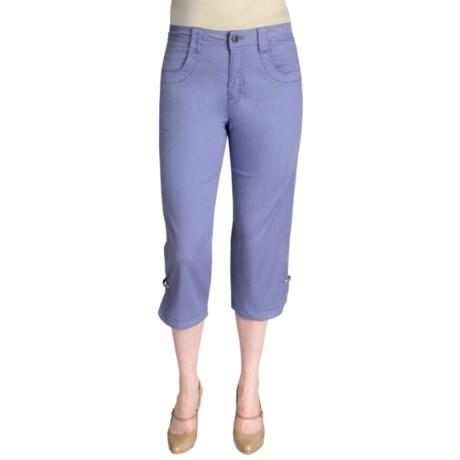 Ethyl Ripstop Cotton Capris - Bling (For Women)