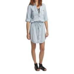 True Grit Cotton Chambray Dress - Short Sleeve (For Women)