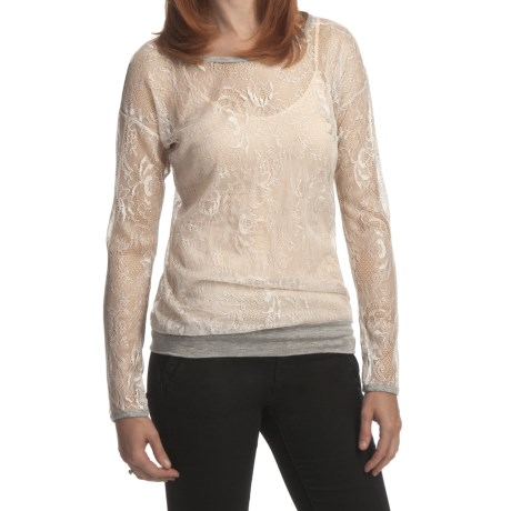 True Grit Vintage Silver Lace & Heather Shirt - Long Sleeve (For Women)