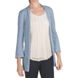 True Grit Vintage Slub Jersey Cardigan Sweater - 3/4 Sleeve (For Women)