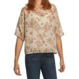 True Grit Vintage Floaty Printed Shirt - Short Sleeve (For Women)