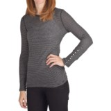 True Grit Supreme Microstripe T-Shirt - Long Sleeve (For Women)