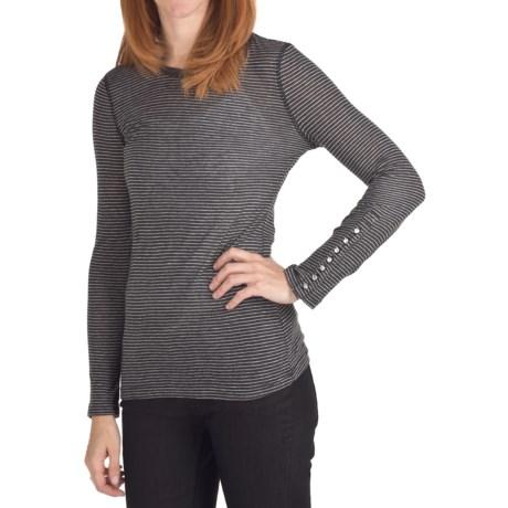 True Grit Supreme Microstripe T-Shirt - Long Sleeve (For Women)