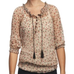 True Grit Studded Chiffon Peasant Shirt - 3/4 Sleeve (For Women)