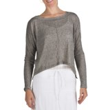 True Grit Slub Pucker Crop Shirt - Long Sleeve (For Women)