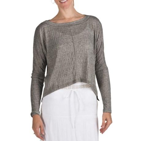 True Grit Slub Pucker Crop Shirt - Long Sleeve (For Women)