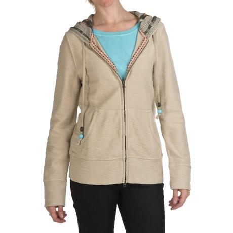True Grit Slub Fleece Baja Hoodie Sweatshirt - Full Zip (For Women)