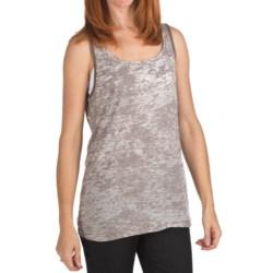 True Grit Burnout Cotton Slub Tank Top (For Women)