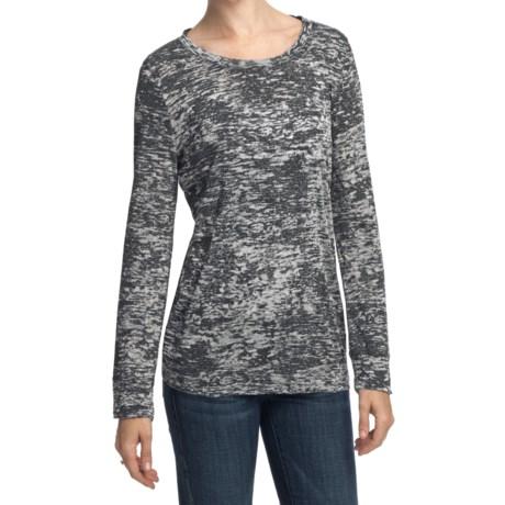 True Grit Slub Cotton Burnout T-Shirt - Long Sleeve (For Women)