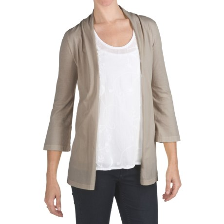 True Grit Classic Cardigan Sweater - Cotton, 3/4 Sleeve (For Women)