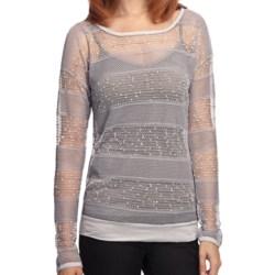 True Grit Sequin Crochet Shirt - Long Sleeve (For Women)