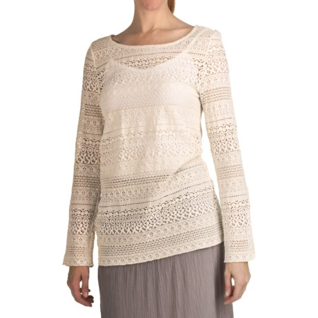 True Grit Navajo Lace Crew Shirt - Long Sleeve (For Women)