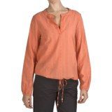 True Grit Maisie Eyelet Popover Shirt - Long Sleeve (For Women)