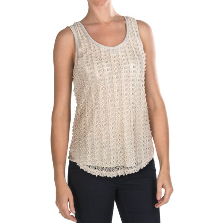 True Grit Metallic Crochet Tank Top (For Women)