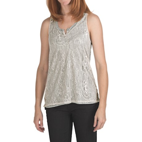 True Grit Lace Overlay Tank Top - Jersey Knit (For Women)