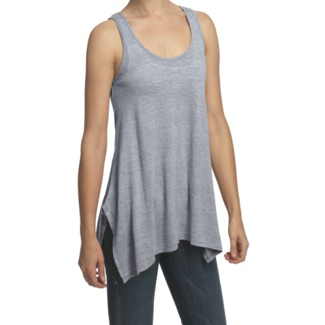 True Grit Haute Heathered Tank Top - Keyhole (For Women)