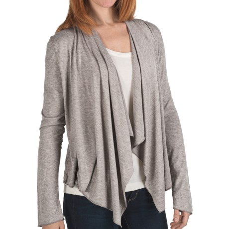 True Grit Haute Flyaway Cardigan Sweater - Open Front, Heathered Knit (For Women)