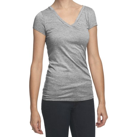 True Grit Haute Heathered Knit T-Shirt - Crossover V-Neck, Short Sleeve (For Women)