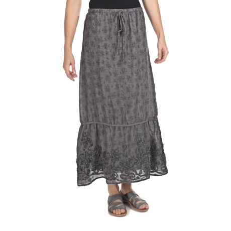 True Grit Long Toile Print Skirt (For Women)