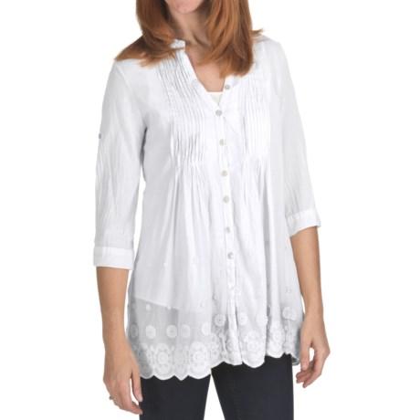 True Grit Pintuck Shirt - Cotton, 3/4 Sleeve (For Women)