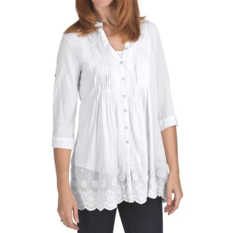 True Grit Pintuck Shirt - Cotton, 3/4 Sleeve (For Women)