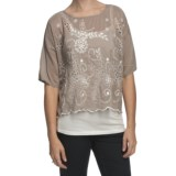 True Grit Cotton-Silk Eyelet Shirt - Short Sleeve (For Women)