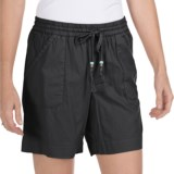 True Grit Drawstring Waist Camp Shorts - Cotton Canvas (For Women)
