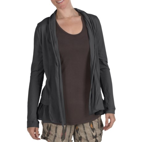 True Grit Cody Cotton Ruffle Open Jacket - Shawl Collar (For Women)