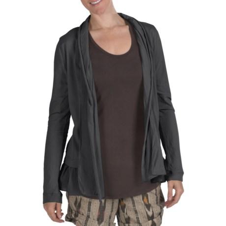 True Grit Cody Cotton Ruffle Open Jacket - Shawl Collar (For Women)