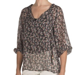 True Grit Floral Chiffon Peasant Shirt - 3/4 Sleeve (For Women)
