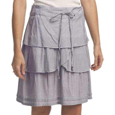 True Grit Cotton Three Tier Ruffle Skirt (For Women)