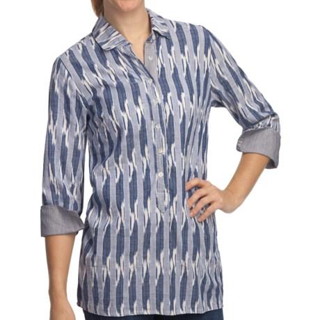 True Grit Indigo Henley Shirt - 3/4 Sleeve (For Women)