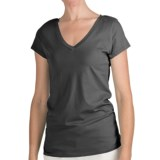 True Grit 40 Cotton Jersey T-Shirt - V-Neck, Short Sleeve (For Women)