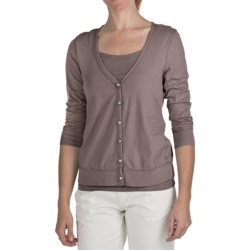 True Grit 40's Cotton Jersey Cardigan Sweater - V-Neck, Long Sleeve (For Women)