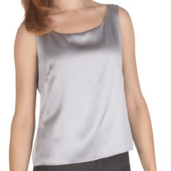 Lafayette 148 New York Silk Charmeuse Fitted Tank Top (For Women)