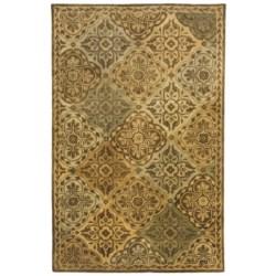 "Kaleen Taj Garden Fine Wool Area Rug - 5'x7'9"""