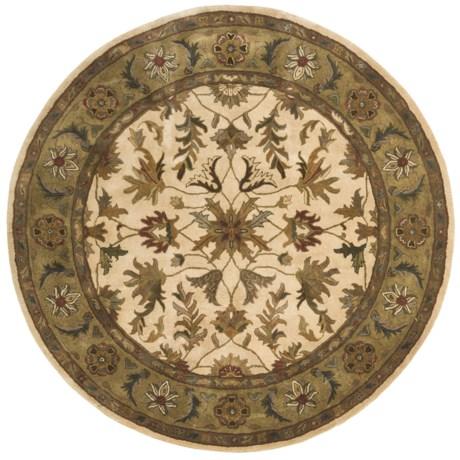 """Kaleen Royal Garden Fine Wool Round Area Rug - 5'9"""""""